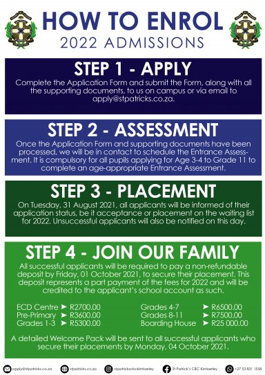 HOW TO ENROL - 2022 ADMISSIONS
